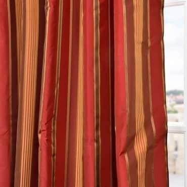 Melrose Silk Taffeta Satin Stripe Fabric