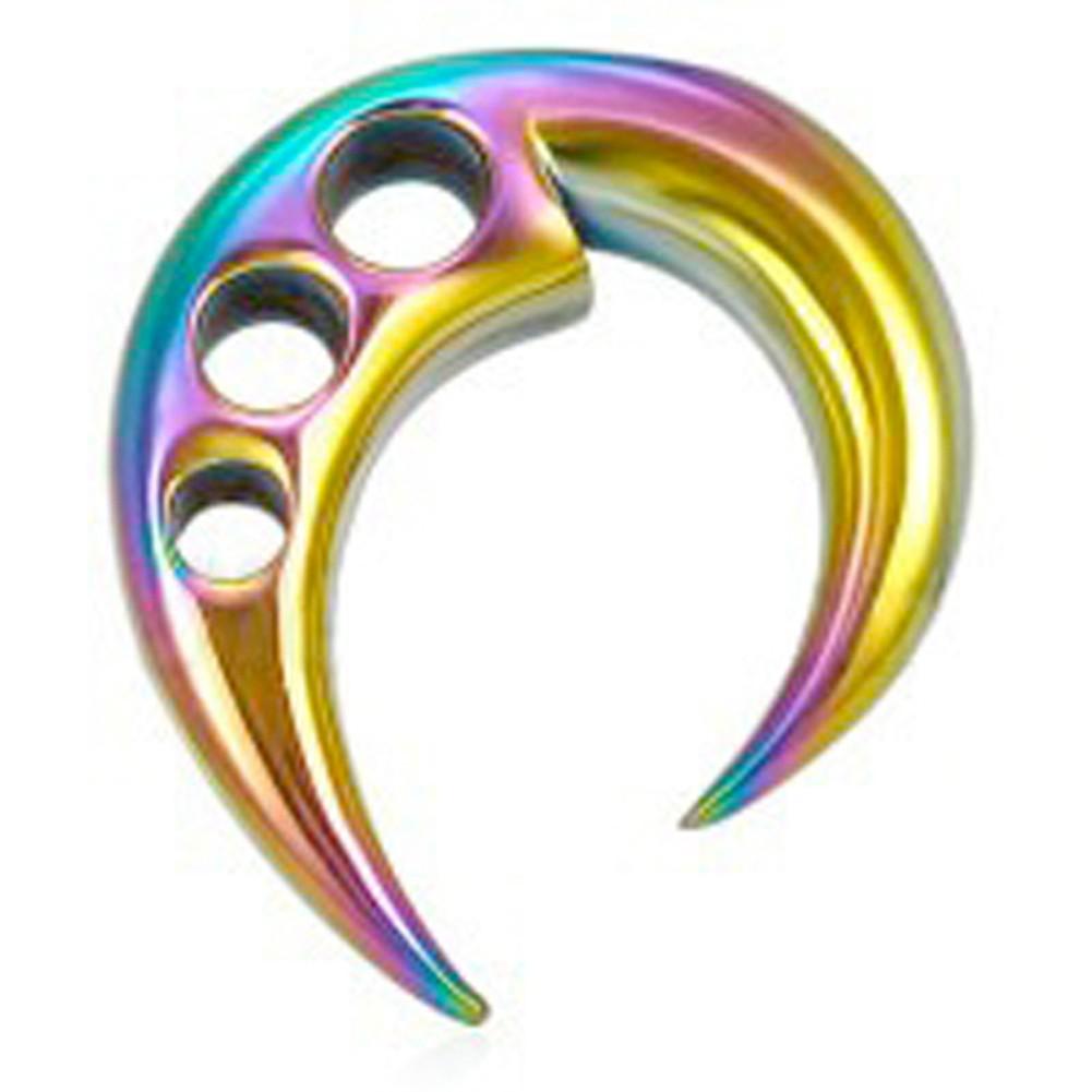 Rainbow Ear Taper Expander w/ Triple hole design....