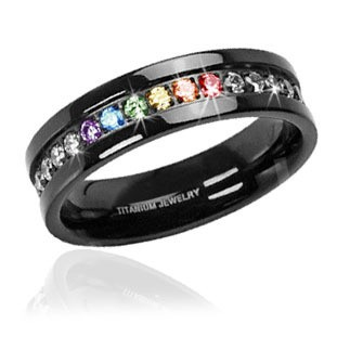 Jet Black Titanium Full Clear & Rainbow String...