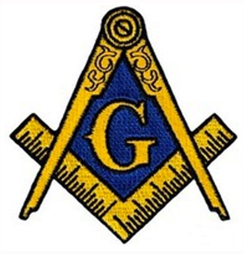 Golden Masonic Cut Out Shaped Patch For Freemasons...