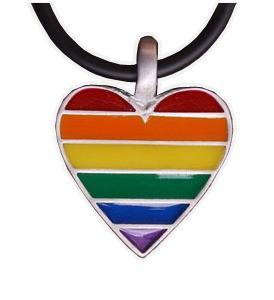 Rainbow Pride Heart - Gay & Lesbian LGBT Pride...