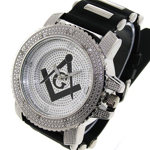 Masonic Watch - Black Silicone Band - Freemason Sy...