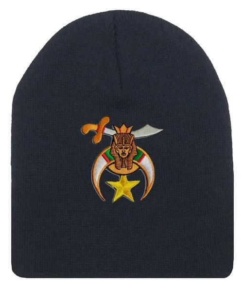 Shriner's Masonic Winter Hat - Black Beanie Ca...