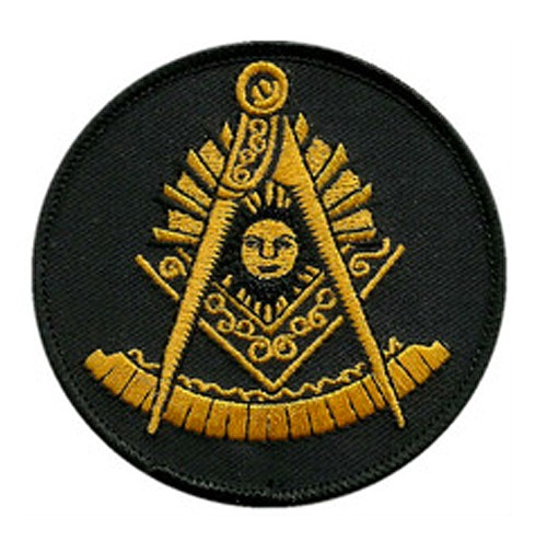 Past Master Masonic Patch - Unique gold symbol on...