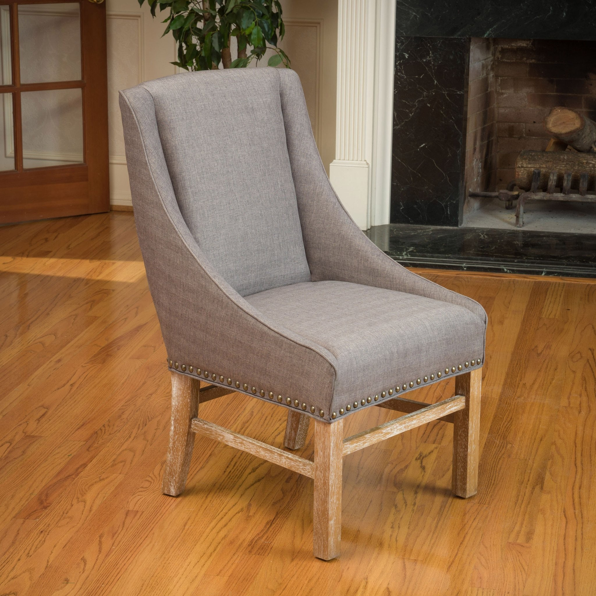 Claudia Silver Fabric Dining Chair