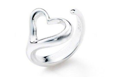 Womens Heart Ring - Adjustable - One Size Fits All...