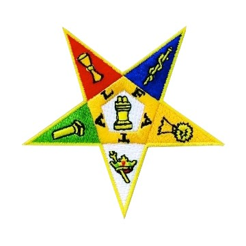 Order of the Eastern Star Masonic Patch - Classic...