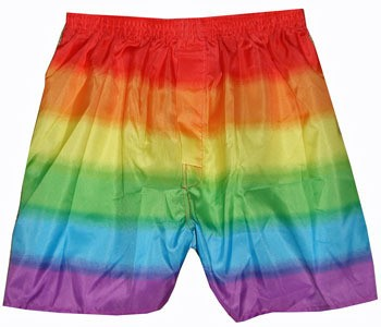 Rainbow Boxer Shorts - LGBT Clothing Lesbian and G...