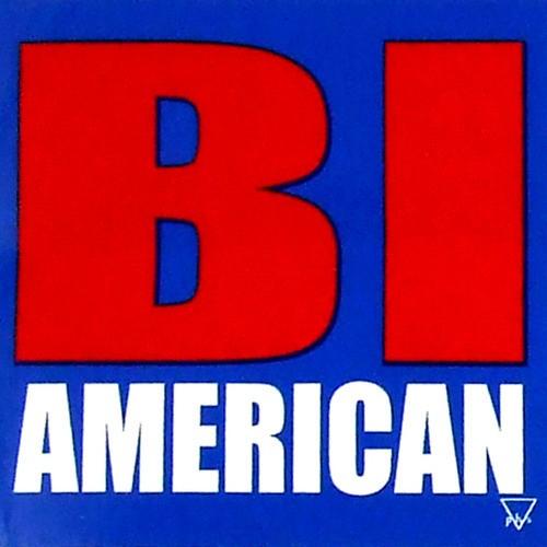 "BI AMERICAN - Bisexual / Bi Pride - 3x3"" inch..."