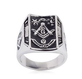 Freemason Ring / Masonic Ring Bent Rectangle Mason...