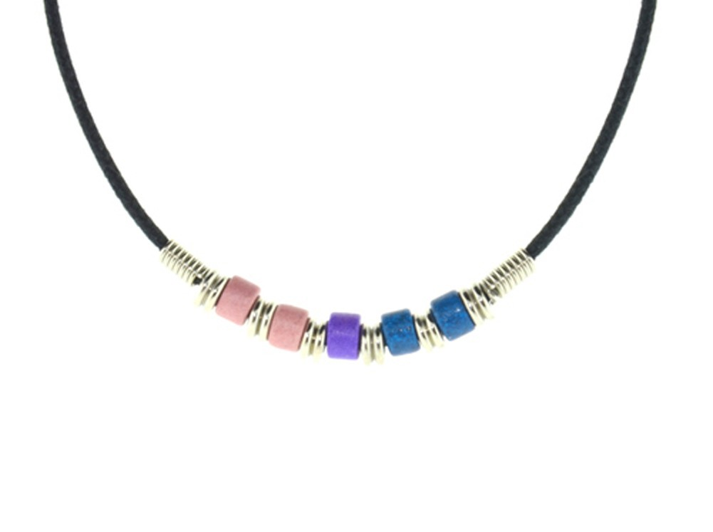 Bi Pride Plain Bead Necklace - Bisexual LGBT Pride...