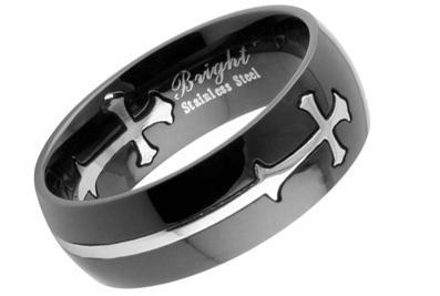 Templar - Black Celtic Cross Ring - Top Quality 31...