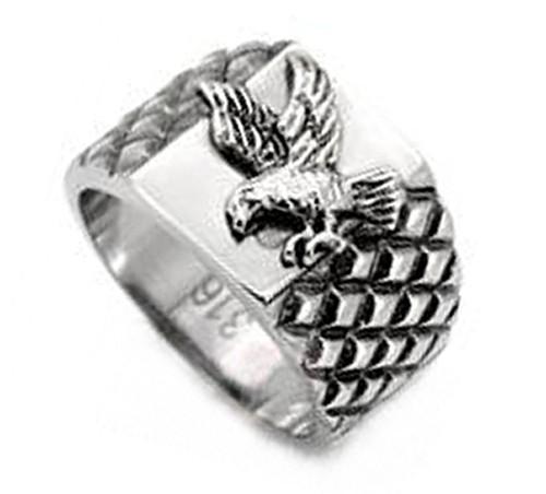 Veteran U.S. Pride - Steel American Bald Eagle Rin...
