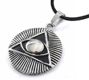 Freemason Pendant - Stainless Steel with Deep Etch...