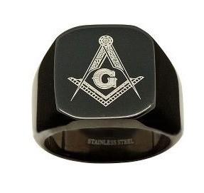 Black Freemason Ring / Masonic Rings for sale - 31...