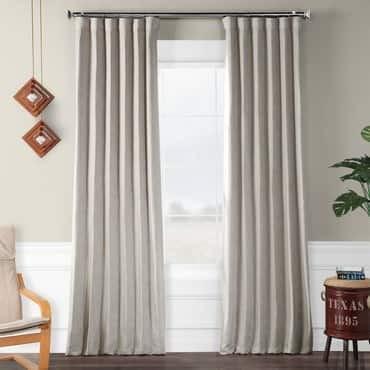 Clay Faux Linen Blackout Curtain