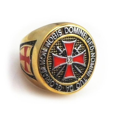 Colorful Gold Plated Steel Knights of Templar Red...