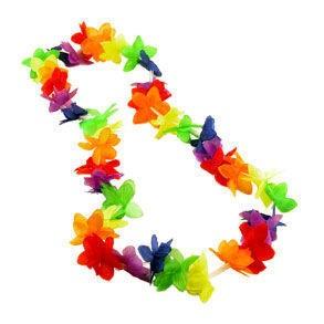 20 Bulk Pack - Rainbow Flower Hawaiian Leis - LGBT...