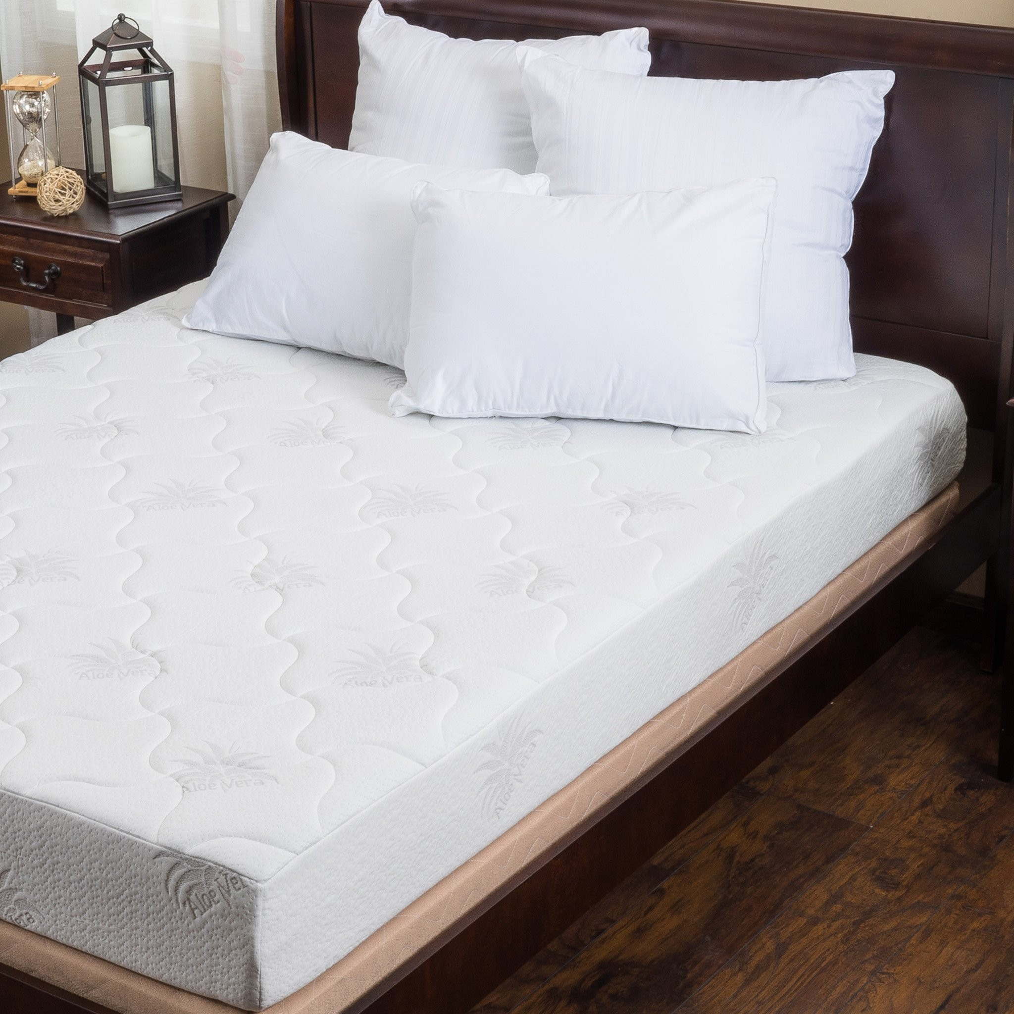 Aloe Gel Memory Foam 8 Inch Full Size Smooth Top M...