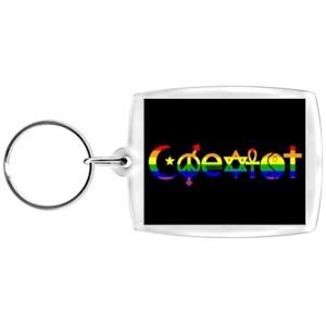 Coexist Rainbow Keychain - LGBT Gay and Lesbian Pr...