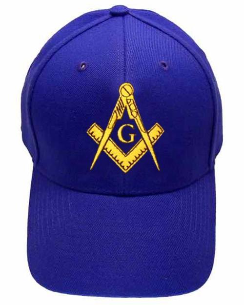 Freemason's Baseball Cap - Blue Hat with Golde...