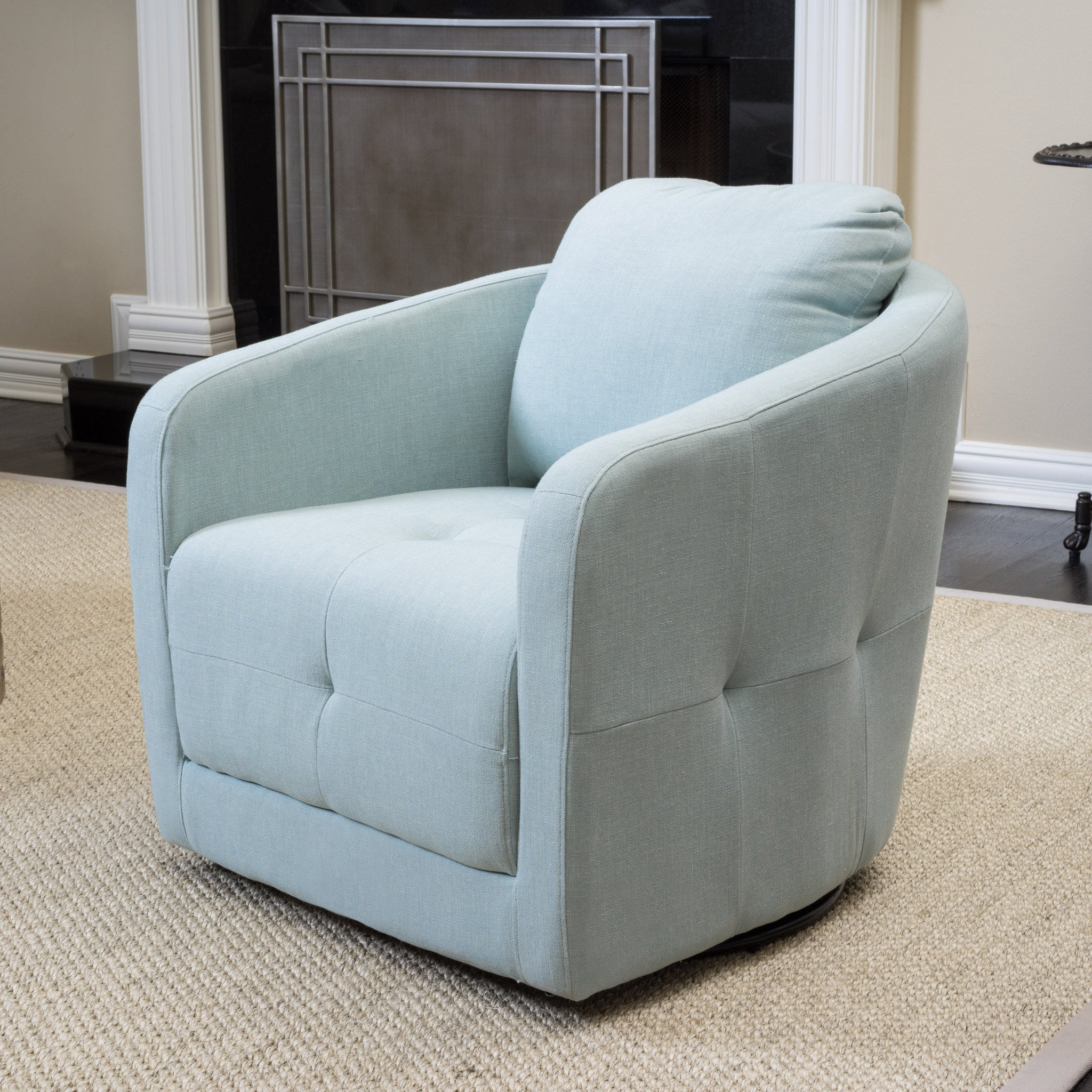 South Hampton Light Blue Swivel Chair