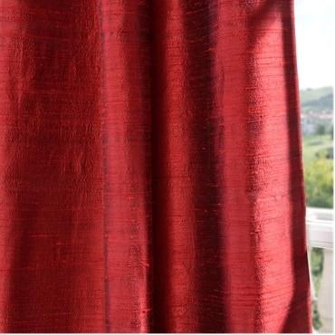 Chili Pepper Textured Dupioni Silk Fabric