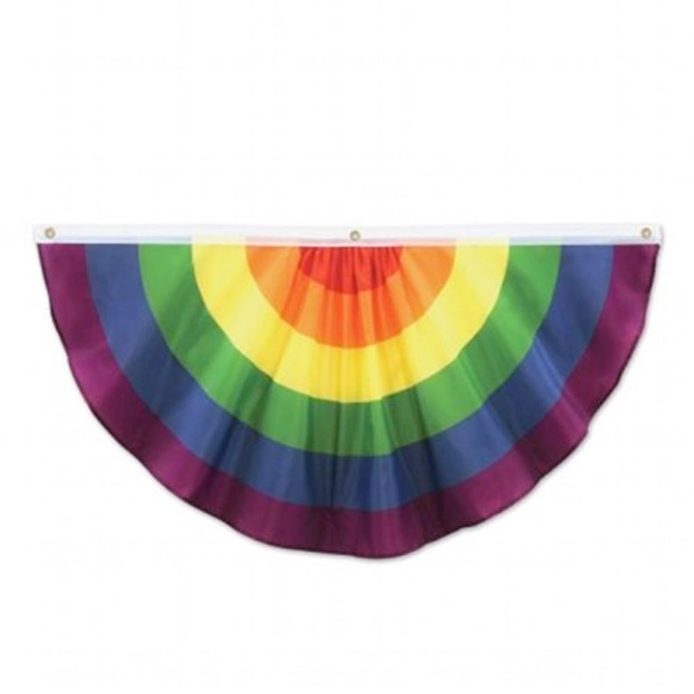4 Foot Single Bunt - Rainbow Gay Pride Flag Fabric...