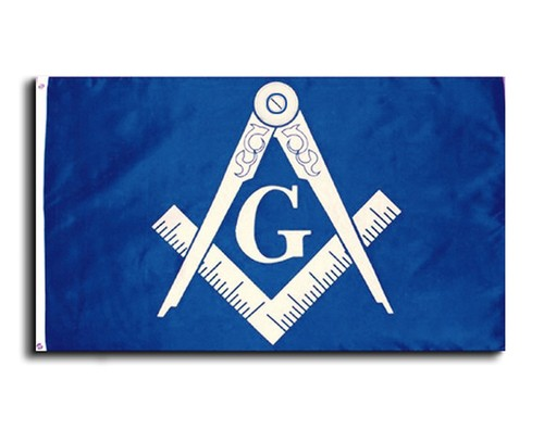 Masonic 3x5 Polyester Flag - With Blue Background...