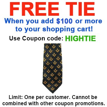 FREE with $100 or more! Coupon Code: HIGHTIE - Get...