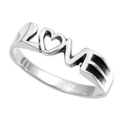 Love Ring - Top Quality Silver Purity Commitment R...