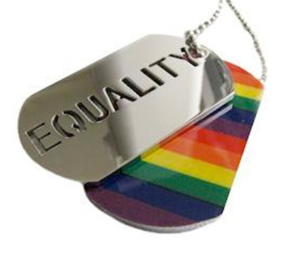 2pc. Equality Rainbow Dog Tag - LGBT Gay and Lesbi...
