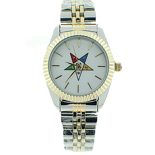 Order of the Eastern Star Watch - OES Symbol on Du...