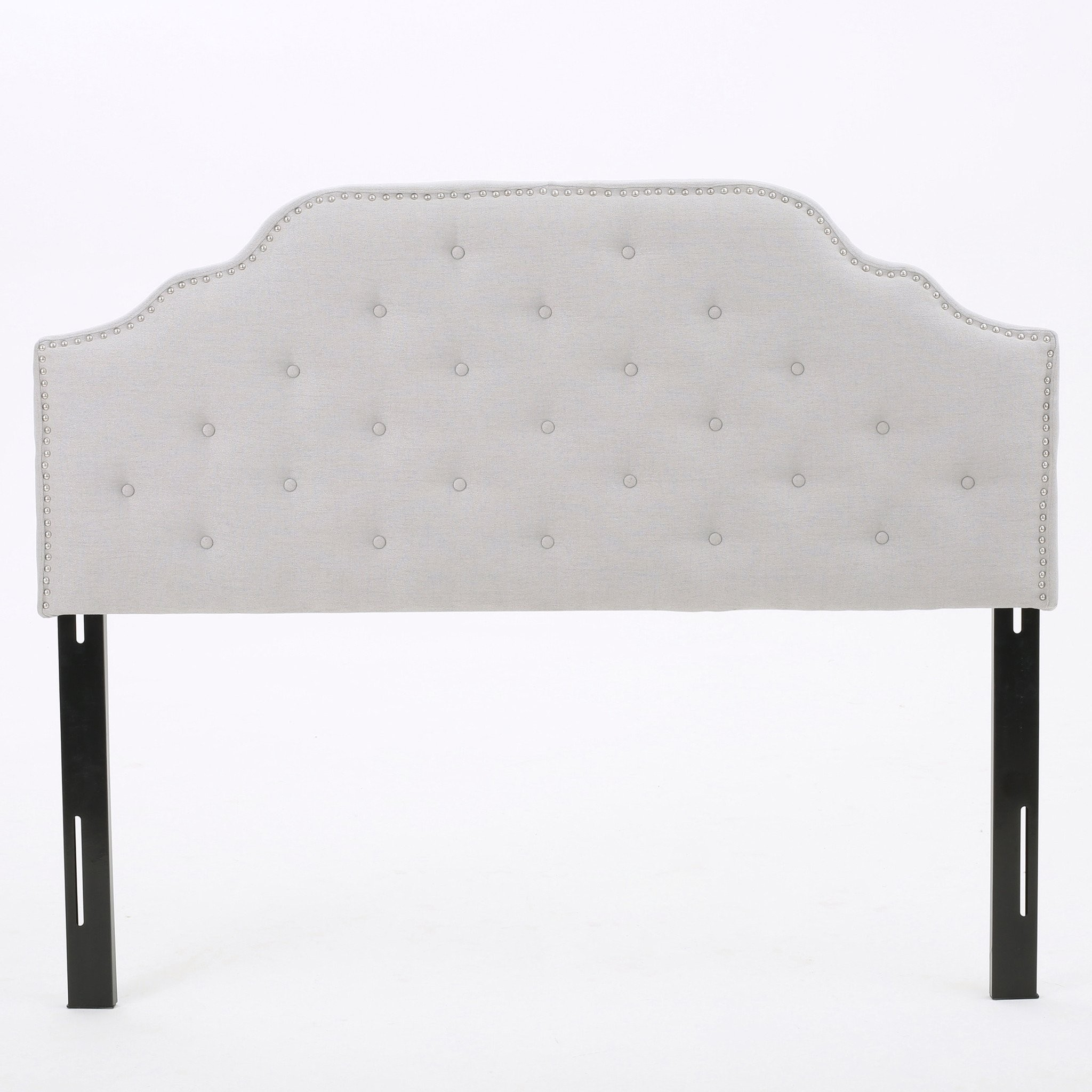 Austell Light Grey Fabric Queen/Full Headboard