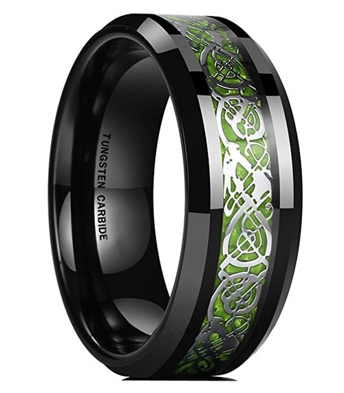 8mm - Unisex or Men's Tungsten Wedding Band. C...