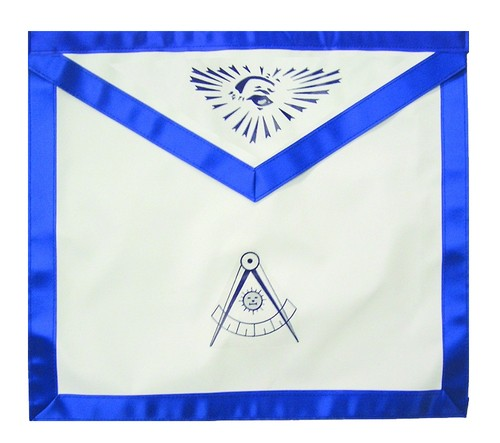 Past Master Masonic Blue Lodge White & Blue Du...
