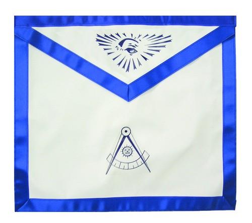 Past Master Masonic Blue Lodge White & Blue Du...