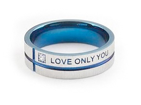 Blue Tint Only Love You - Promise Ring - Titanium...