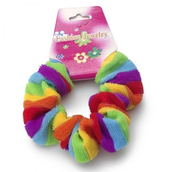 Rainbow Fluffy Hair Scrunchy (Pony Tail Hair Band)...