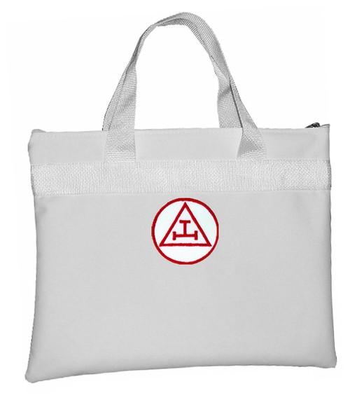 Royal Arch White Masonic Tote Bag for Freemasons -...