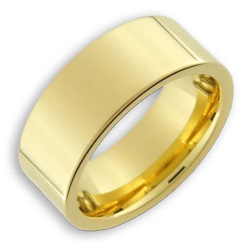 Men's Tungsten Ring (14K Gold Plated 8MM band)...