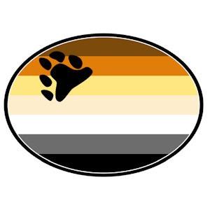 Bear Pride Flag - Bear Paw - Gay Pride Car Magnet