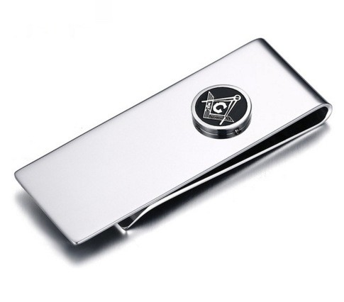 Masonic Money Clip - Stainless Steel with Classic...