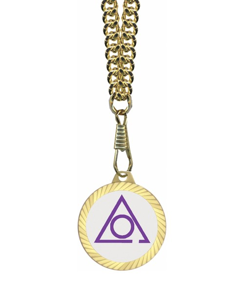 Circle of Perfection Masonic Round Gold Color Rimm...