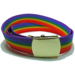 Rainbow Soft Belt (Durable w/ Adjustable Brass Buc...