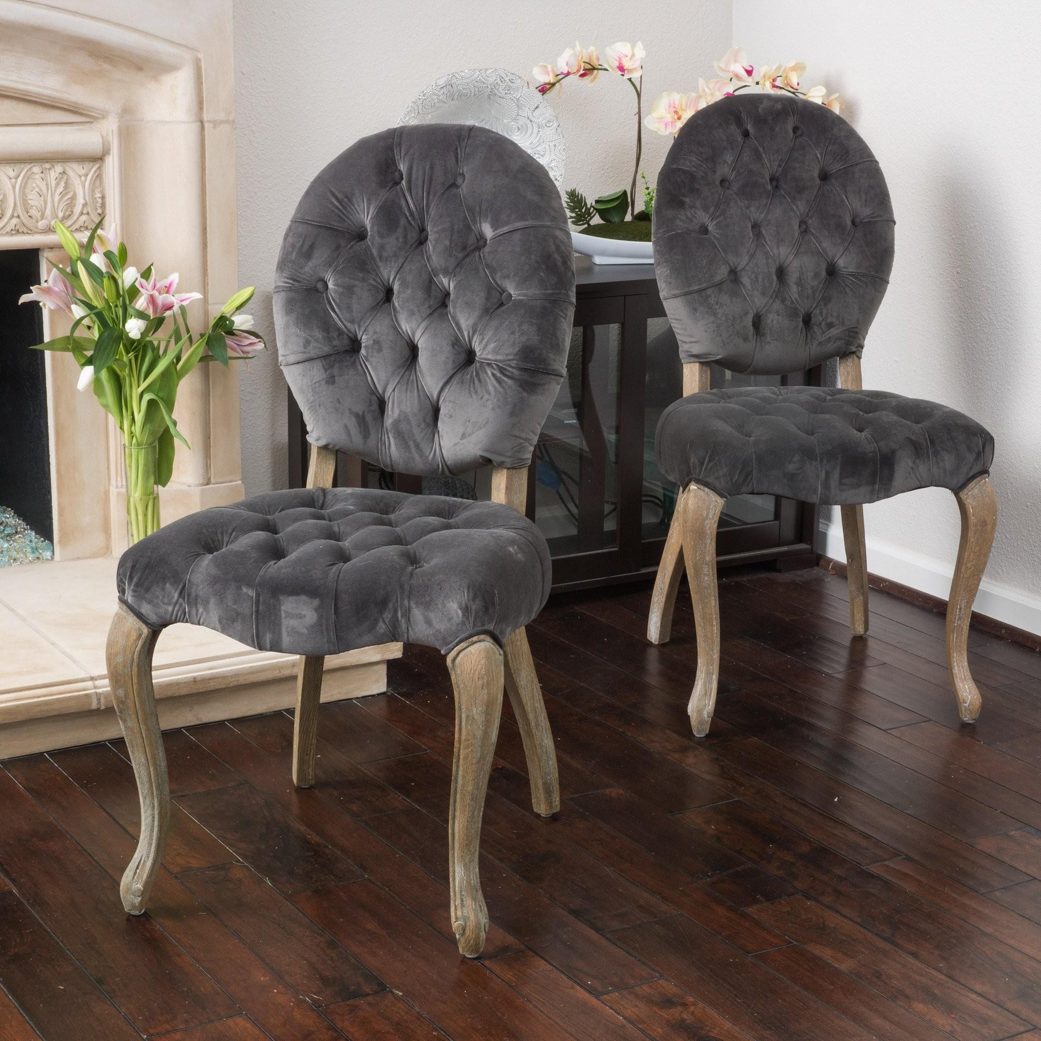 Marlon Charcoal Velvet Dining Chair (Set of 2)
