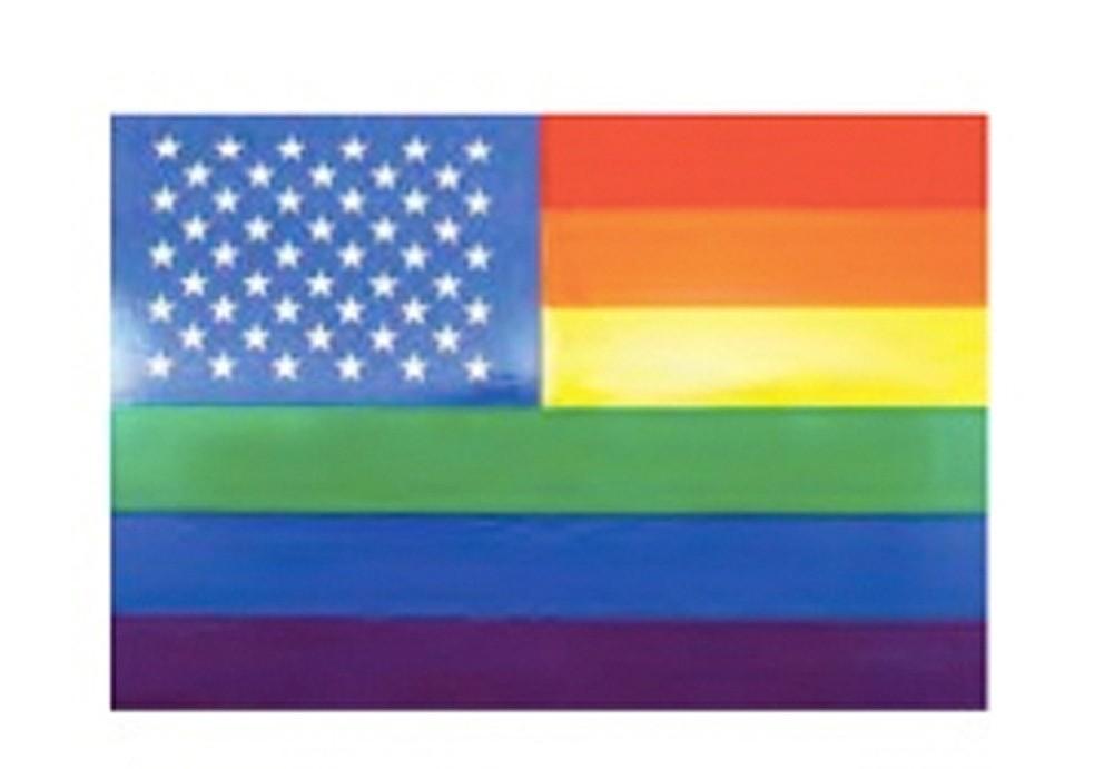 Gay American - Stars and Stripes U.S. Rainbow Flag...