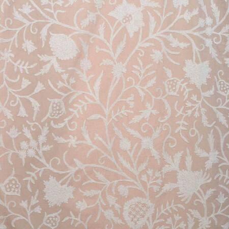 Celine Linen Embroidered Cotton Crewel Fabric