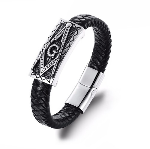 Freemason Bracelet with Magnetic Buckle / Masonic...