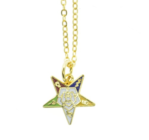 OES Dangling Pendant with Order of the Eastern Sta...